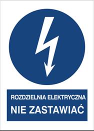 Obrazek dla kategorii Znak Rozdzielnia elektryczna. Nie zastawiać (430-17)