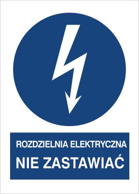 Znak Rozdzielnia elektryczna. Nie zastawiać (430-17)