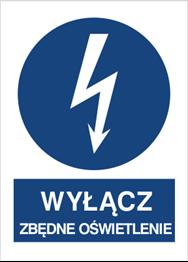 Obrazek dla kategorii Znak Wyłącz zbędne oświetlenie (430-18)