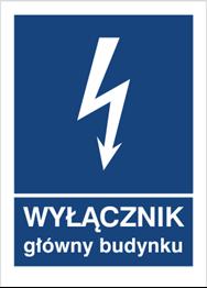 Obrazek dla kategorii Znak Wyłącznik główny budynku (530-04)