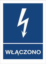 Obrazek dla kategorii Znak Włączono (530-09)