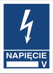 Obrazek dla kategorii Znak Napięcie …V (530-10)