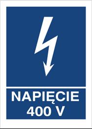 Obrazek dla kategorii Znak Napięcie 400V (530-13)