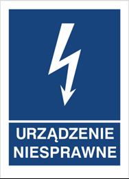 Obrazek dla kategorii Znak Urządzenie niesprawne (530-18)