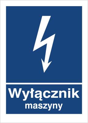 Znak Wyłącznik maszyny (530-20)