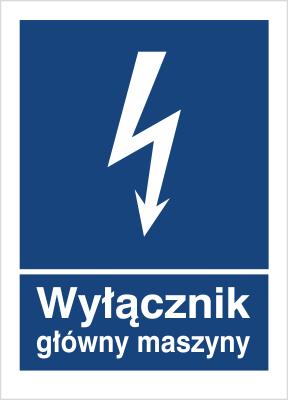 Znak Wyłącznik główny maszyny (530-21)
