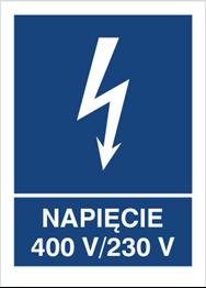 Obrazek dla kategorii Znak Napięcie 400V- 230V (530-22)