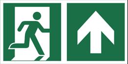 Obrazek dla kategorii Znak łączony wyjście ewakuacyjne ze strzałką w górę (E02-0GG)