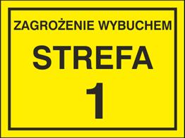 Obrazek dla kategorii Znak Zagrożenie wybuchem strefa 1 (829-03)