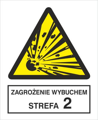 Znak Zagrożenie wybuchem. Strefa 1 (221-01)