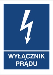 Obrazek dla kategorii Znak Wyłącznik prądu (530-32)