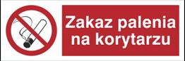 Obrazek dla kategorii Znak Zakaz palenia na korytarzu (209-10)