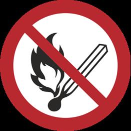 Obrazek dla kategorii Zakaz używania otwartego ognia (210-08) Okrągły