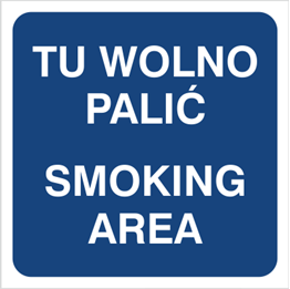 Obrazek dla kategorii Tu wolno palić Smoking area (831-03)