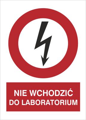 Znak Nie wchodzić do laboratorium (630-08)