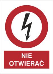 Obrazek dla kategorii Znak Nie otwierać (630-14)