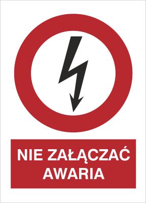 Znak Nie załączać. Awaria (630-15)