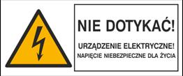 Obrazek dla kategorii Znaki elektryczne ostrzegawcze typu B wg PN-88-E-08501