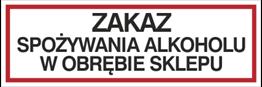 Obrazek dla kategorii Zakaz spożywania alkoholu w obrębie sklepu (857-03)