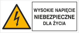 Obrazek dla kategorii Znak Wysokie napięcie niebezpieczne dla życia (330-02)