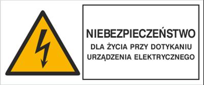 Znak Niebezpieczeństwo dla życia przy dotknięciu urządzenia elektrycznego (330-04)