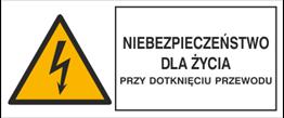 Obrazek dla kategorii Znak Niebezpieczeństwo dla życia przy dotknięciu przewodu (330-06)