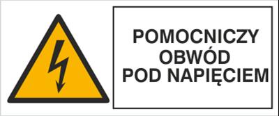 Znak Pomocniczy obwód pod napięciem (330-08)