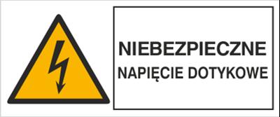 Znak Niebezpieczne napięcie dotykowe (330-13)