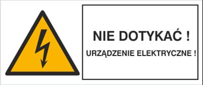 Znak Nie dotykać! Urządzenie elektryczne! (330-16)
