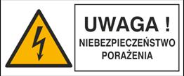 Obrazek dla kategorii Znak Uwaga! Niebezpieczeństwo porażenia (330-21)