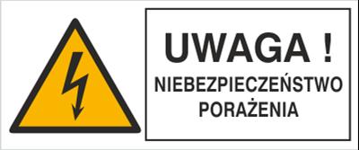 Znak Uwaga! Niebezpieczeństwo porażenia (330-21)