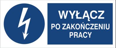 Znak Wyłącz po zakończeniu pracy (430-19)