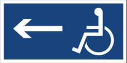 Obrazek dla kategorii Kierunek drogi dla inwalidów (w lewo) (821)