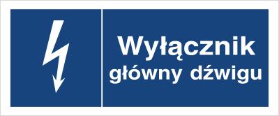 Znak Wyłącznik główny dźwigu (530-03)