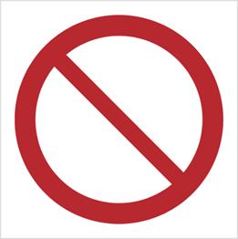 Obrazek dla kategorii Znak Ogólny znak zakazu (P01)