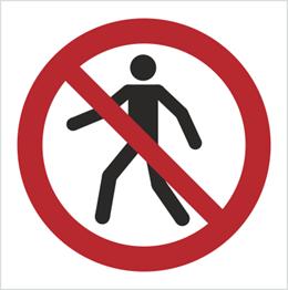 Obrazek dla kategorii Znak Zakaz przejścia (P04)
