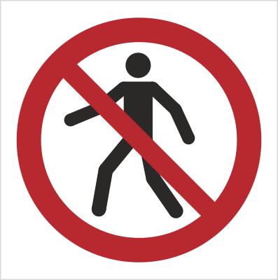 Znak Zakaz przejścia (P04)