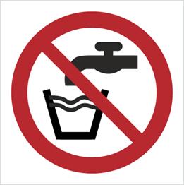 Obrazek dla kategorii Znak Zakaz picia wody (P05)