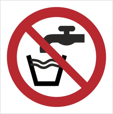 Znak Zakaz picia wody (P05)