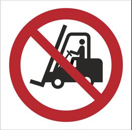 Obrazek dla kategorii Znak Zakaz ruchu urządzeń do transportu poziomego (P06)