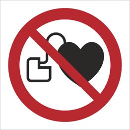 Obrazek dla kategorii Znak Zakaz wstępu osobom ze stymulatorem serca (P07)