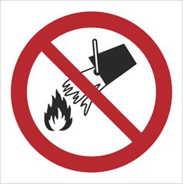 Obrazek dla kategorii Znak Zakaz gaszenia wodą (P11)