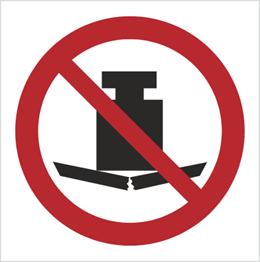 Obrazek dla kategorii Znak Zakaz umieszczania ciężkich przedmiotów (P12)
