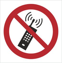 Obrazek dla kategorii Znak Zakaz używania telefonów komórkowych (P13)