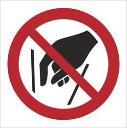 Obrazek dla kategorii Znak Zakaz wkładania rąk do środka (P15)