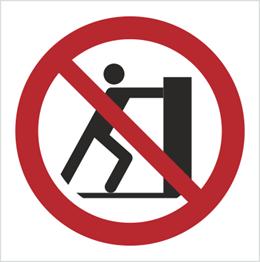 Obrazek dla kategorii Znak Zakaz pchania (P17)