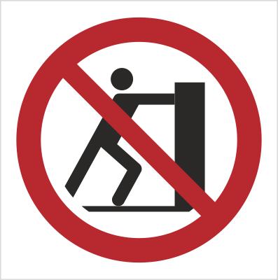 Znak Zakaz pchania (P17)