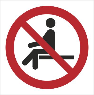 Znak Zakaz siadania (P18)