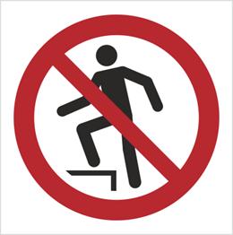 Obrazek dla kategorii Znak Zakaz chodzenia po powierzchni (P19)