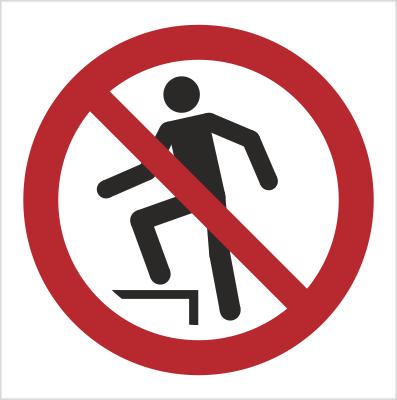Znak Zakaz chodzenia po powierzchni (P19)